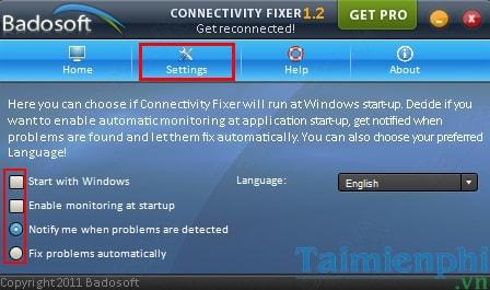 Connectivity Fixer - Tự động khắc phục kết nối Internet khi có cuộn đề