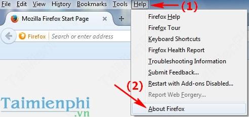 Làm sao kiểm tra phiên bản Firefox đang sử dụng?
