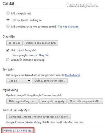 Google Chrome - Bật tính năng