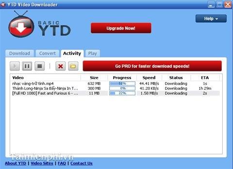 Tải video Youtube, Facebook bằng YTD Video Downloader trên máy tính