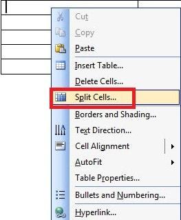 Chia và gộp ô cho các Table, bảng biểu trong Word 11