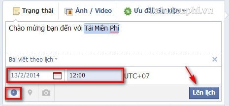 Facebook - Lên lịch cập nhật Status trên Fanpage