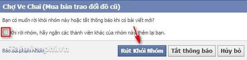 Rời khỏi nhóm Facebook, thoát hội trên Facebook