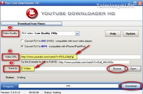 Tải video youtube bằng Youtube Downloader HD trên máy tính, laptop