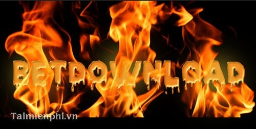 Photoshop - Tạo hiệu ứng chữ lửa bị nung chảy
