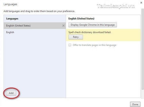 Đổi ngôn ngữ Google Chrome, thay languages Google Chrome