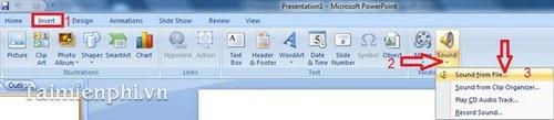 PowerPoint - Cách chèn, thêm Audio trong PowerPoint 4