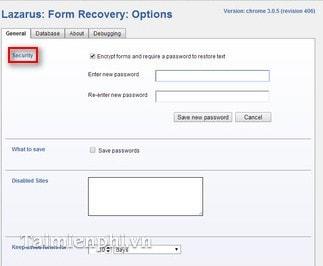 Chrome - Tìm lại văn bản soạn thảo bị mất bằng Lazarus