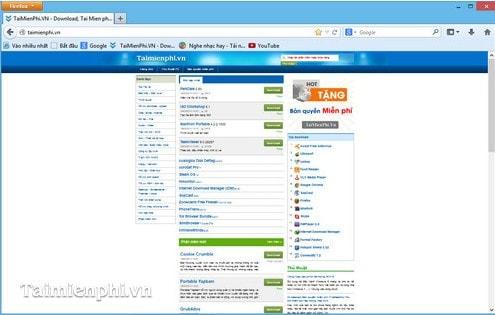 Firefox - Tối ưu màn hình hiển thị trên trình duyệt
