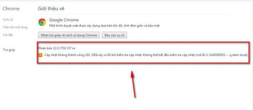 Google Chrome - Vô hiệu hóa tính năng cập nhật