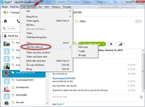 How to see skype chat history on iphone