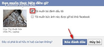 Facebook - Xóa tag khỏi ảnh trên Facebook