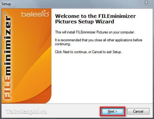 Cài và sử dụng FILEminimizer Pictures giảm dung lượng ảnh