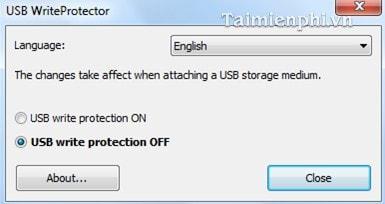 Chống ghi dữ liệu trên USB bằng USB WriteProtector 3