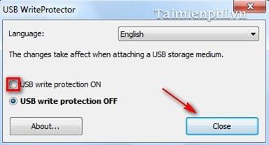 Chống ghi dữ liệu trên USB bằng USB WriteProtector 4