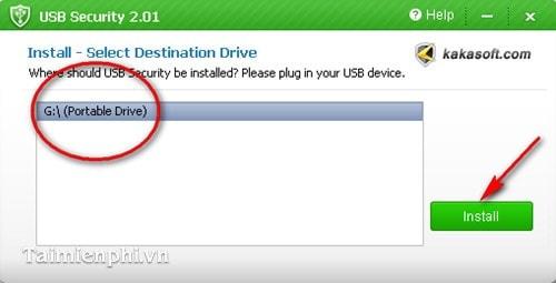 dat mat khau bao ve usb voi USB Sercurity