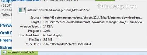 Firefox - Quản lý các file download trên thanh trạng thái