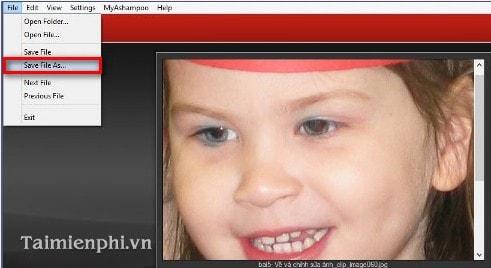 Ashampoo Red - Cách sửa lỗi mắt đỏ trong ảnh