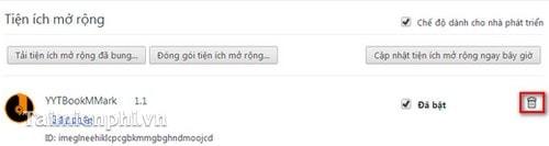 Xóa, gỡ bỏ YoutubeBookmark trên trình duyệt Firefox, Chrome, Cốc Cốc, IE