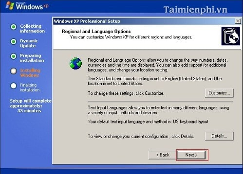 Detailed instructions how to install Windows XP SP2 on a computer