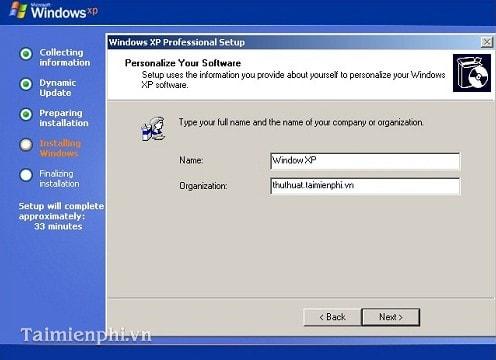 Cài Win XP từ ổ đĩa CD, setup Windows XP qua ổ đĩa CD, DVD 11