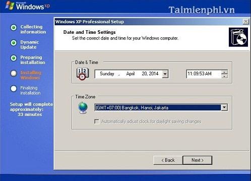 Cài Win XP từ ổ đĩa CD, setup Windows XP qua ổ đĩa CD, DVD 14