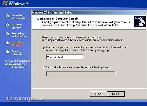 Cài Win XP từ ổ đĩa CD, setup Windows XP qua ổ đĩa CD, DVD 16