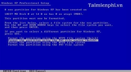 Cài Win XP từ ổ đĩa CD, setup Windows XP qua ổ đĩa CD, DVD
