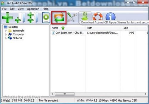 Đổi đuôi MP3, những phần mềm chuyển đuôi MP3 tốt nhất 3
