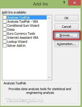 Cách đổi số thành chữ trong bảng tính Excel bằng VnTools 2010, 2013, 2007, 2003, 2016  16