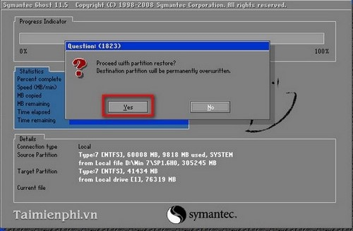Cách ghost Win 7, ghost Windows 7 bằng đĩa Hiren Boot's CD 12