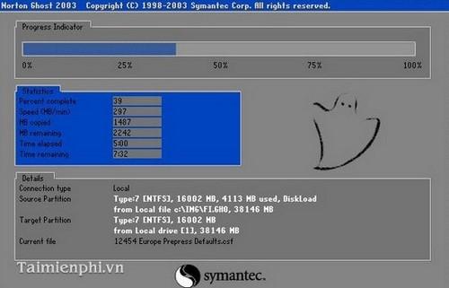 Cách ghost Win 7, ghost Windows 7 bằng đĩa Hiren Boot's CD 13