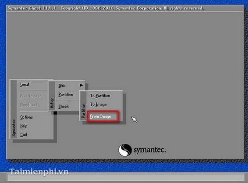 Cách ghost Win 7, ghost Windows 7 bằng đĩa Hiren Boot's CD 7