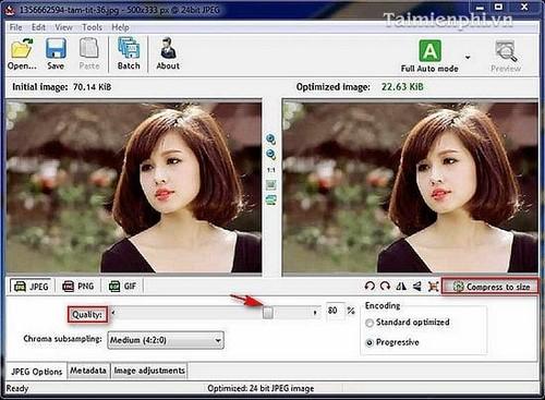 Giảm dung lượng ảnh bằng Radical Image Optimize Tool (RIOT)