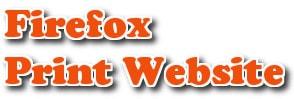 in trang web trên firefox