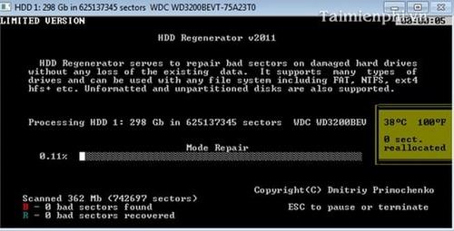 Tải phần mềm HDD Regenerator Full bản quyền mới nhất 2020 6