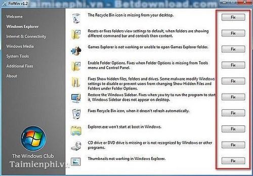 Sửa lỗi Win 7, những phần mềm sửa lỗi Windows tốt nhất 2