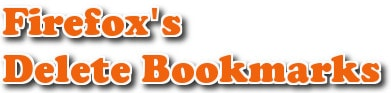 xoa bookmark trong firefox