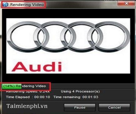 Hướng dẫn xuất video nhẹ và nét trong Proshow Producer.