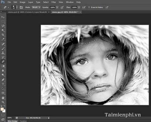 Chuyển ảnh đen trắng sang màu bằng Photoshop