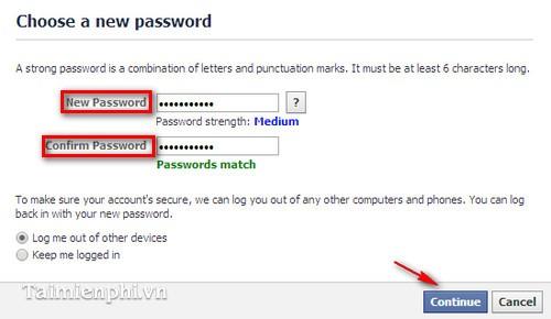 face dang nhap khi quên mật khẩu