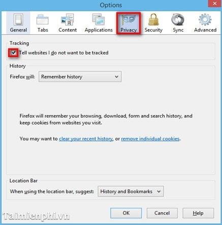 Những bước bảo mật cơ bản trình duyệt Firefox