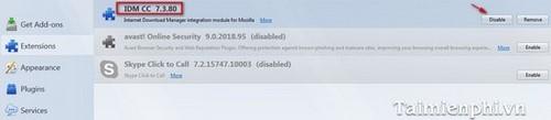 Bật/tắt IDM CC trên Firefox, Google Chrome 2