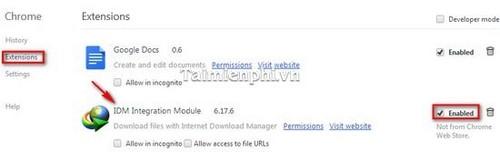 Bật/tắt IDM CC trên Firefox, Google Chrome 5