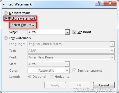 how to add watermark in word 2016