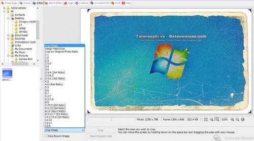 Biên tập, chỉnh sửa hình ảnh bằng PhotoScape
