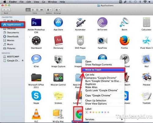 Hỏi cách gỡ bỏ ứng dụng trên Mac OS X