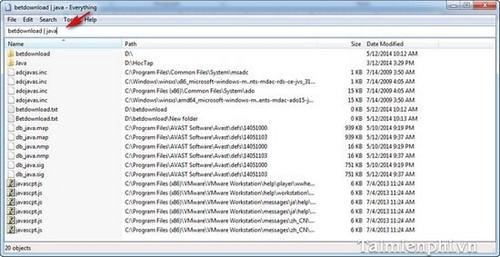 Everything - Tìm kiếm file dữ liệu nhanh chỉ trong tích tắc