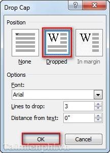 Word - Cách chia cột, tạo Dropcap trong văn bản Word 9