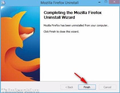 Cách gỡ bỏ trình duyệt Firefox khỏi máy tính